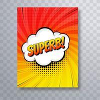 Pop art coloré fond de brochure de bande dessinée vecteur
