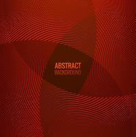 Fond de vague géométrique abstrait ligne rouge