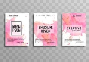 Beau commerce brochure template set vector