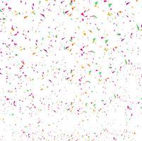 Confettis colorés abstraits. Isolé sur le blanc vecteur