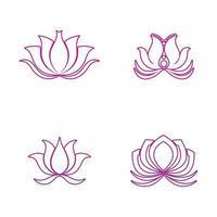 icône de lotus de vecteur de beauté