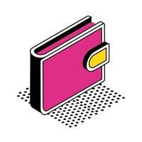 conception de vecteur d & # 39; icône de style isométrique portefeuille