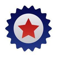 sceau de dentelle avec style dégradé étoile vecteur