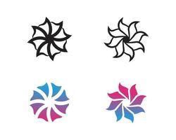 ensemble de vecteurs abstraits de motifs floraux sur fond blanc vecteur