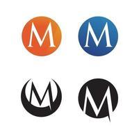 lettre m icônes vectorielles tels logos vecteur
