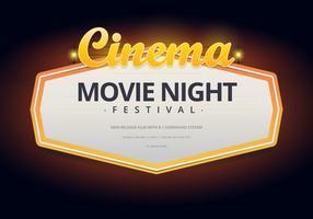 Affiche ou modèle de soirée Web Movie Night vecteur
