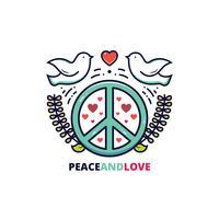 Vecteur de paix et d'amour