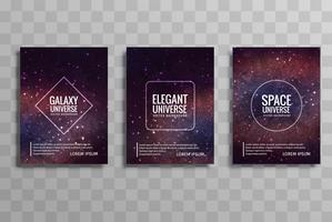 Jeu de brochure entreprise coloré abstrait galaxie