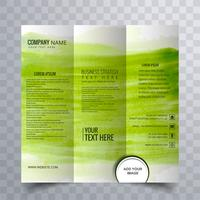 conception de brochure moderne à trois volets