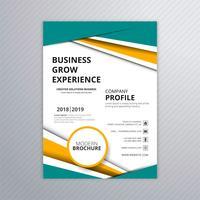 Conception de modèle de brochure élégante entreprise colorée vecteur