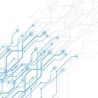 Carte de circuit imprimé de technologie abstraite, fond de vecteur