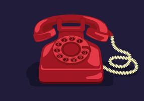 Illustration vectorielle de téléphone rotatif