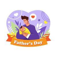 les pères embrassent un fond de bébé vecteur