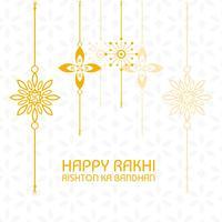 Beau rakhi pour la fête indienne, célébration de Raksha Bandhan vecteur