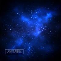 Fond bleu brillant de galaxie vecteur