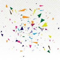 Abstrait coloré confetti chute vecteur