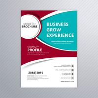 Conception de flyer modèle moderne d'affaires ondulées colorées brochure vecteur