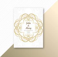 Beau modèle de carte de mariage invitation design floral vecteur