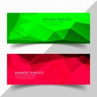 Bannières de polygone coloré abstrait scénographie vecteur