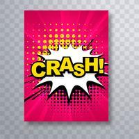 Modèle de conception belle brochure texte comique crash vecteur