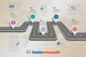 infographie de la chronologie de la feuille de route commerciale vecteur