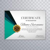Modèle de conception de certificat pour illustration de placement de texte vecteur