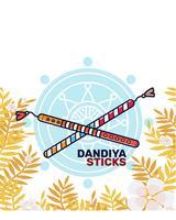 Vecteur de bâtons Dandiya