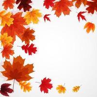fond de bannière de feuilles dautomne brillant vecteur