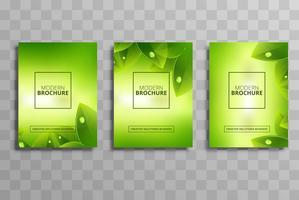 Vecteur de modèle de brochure abstrait nature business set