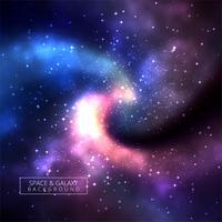 Univers fond illustration de galaxie colorée vecteur