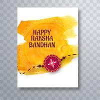 Belle conception de modèle de brochure raksha bandhan vecteur