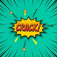 Fond de crack en vecteur coloré de style bande dessinée pop art