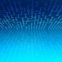 Résumé de connexion technologie points et lignes vecteur