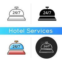 Icône de service de conciergerie 24 heures sur 24 vecteur