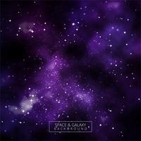 Fond coloré belle galaxie brillant vecteur
