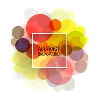 Illustration de fond abstrait cercles colorés vecteur
