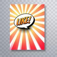 Beau modèle de conception de modèle de brochure coloré bande dessinée pop art vecteur