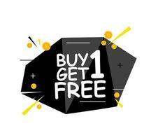 acheter 1 obtenir 1 modèle de bannière de vente gratuit offre de promotion pour la vente au détail vecteur
