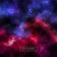 Bel univers fond coloré de galaxie vecteur