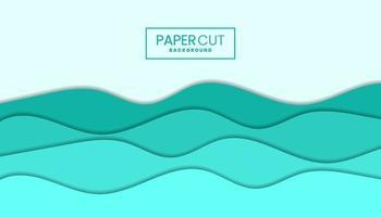 fond de papier découpé dans un style ondulé avec des couleurs pastel vecteur