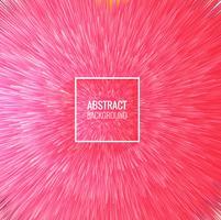 Vecteur de fond abstrait rayons roses