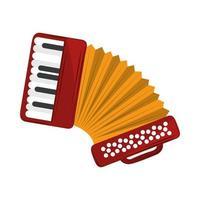 instrument de musique accordéon vecteur