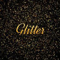 Fond brillant de paillettes d'or abstraite vecteur