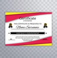 Certificat de reconnaissance modèle de conception vecteur