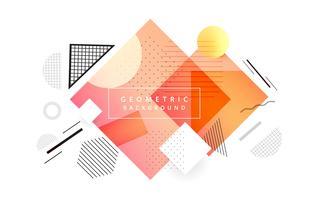 Triangle abstrait coloré Memphis géométrique fond illustra vecteur