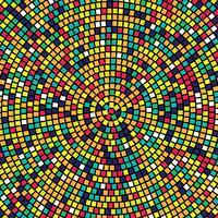 Impression de fond abstrait mosaïque colorée vecteur