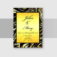 Cartes d'invitation de mariage avec vecteur de fond de texture marbre