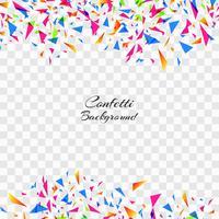 Résumé de confettis colorés sur fond transparent. Celebratio vecteur