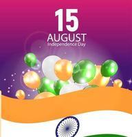 15 août fond de célébration de la fête de l'indépendance de l'inde vecteur