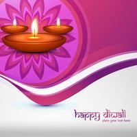 Fond clair moderne beau coloré Diwali vecteur